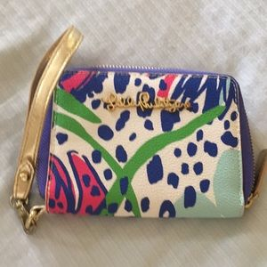 Lilly Pulitzer wristlet wallet